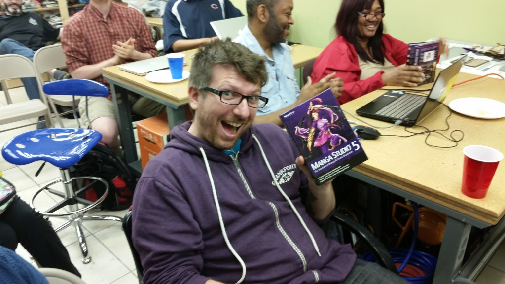 Jim, the proud owner of her new copy of Manga Studio courtesy of Smith Micro